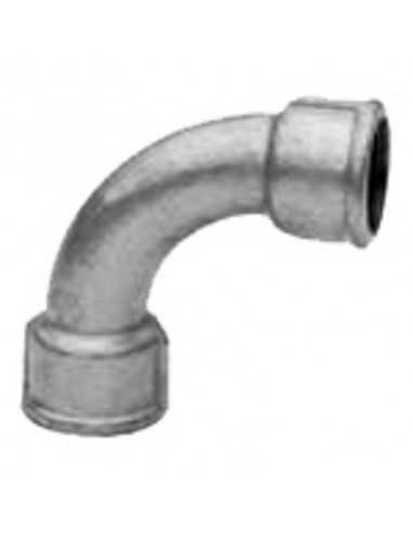 Curva 90º H hierro galvanizado
