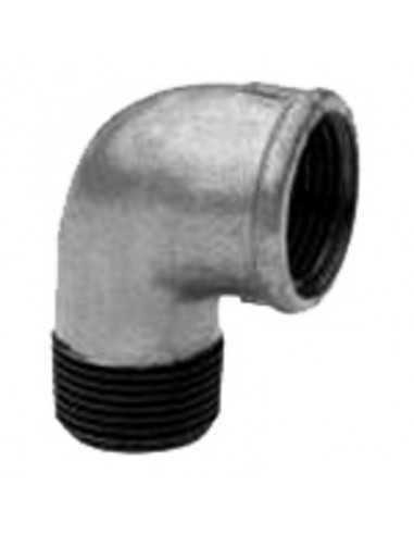 Codo 90º M-H hierro galvanizado