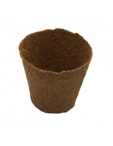 Maceta de turba biodegradable redonda...