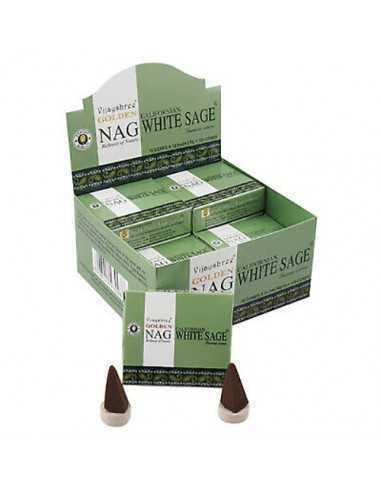 Conos de incienso Golden Nag White Sage