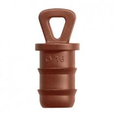Tapón 16 mm marrón