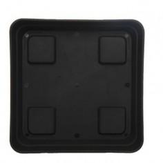 Plato cuadrado negro 15 cm
