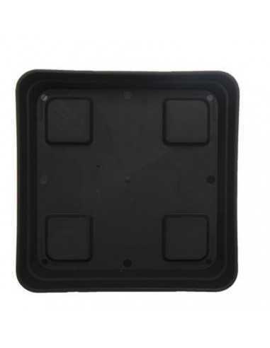 Plato cuadrado negro 20 cm