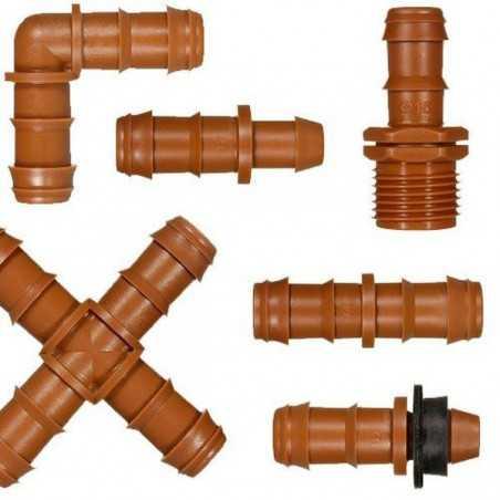Accesorios 16 mm marrón